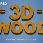 3D Wood Text Effect in Photoshop