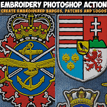 Embroidery Photoshop Action Plugin
