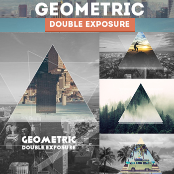 Geometric Double Exposure Photoshop Action