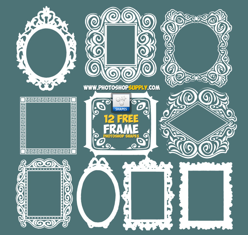 Photoshop Frames and Borders Shapes Free Download