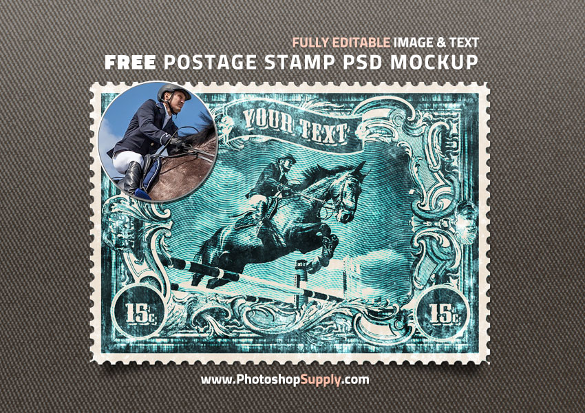 Postage Stamp PSD Template