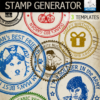 Rubber Stamp Photoshop Action