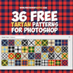 Tartan Plaid Patterns for Photoshop Free