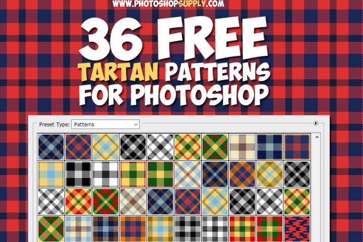 Tartan Plaid Patterns for Photoshop Free