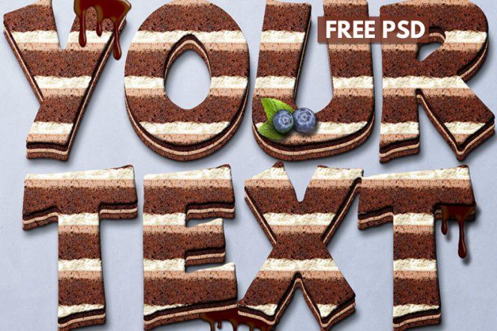 Birthday Cake Chocolate Style Photoshop