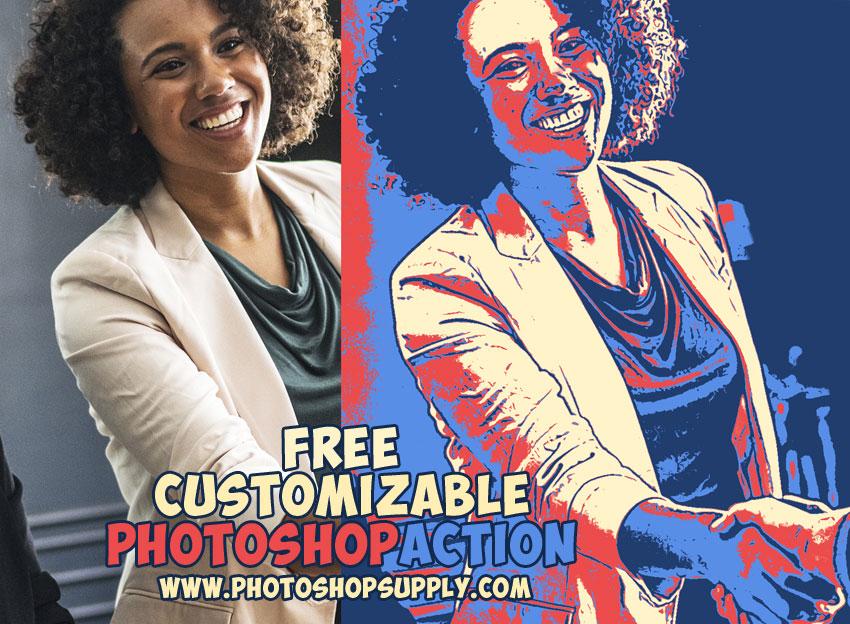 Poster Action Photoshop Portrait Effect