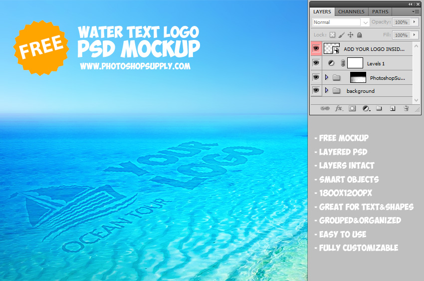 Water Text Logo Creator in Photoshop
