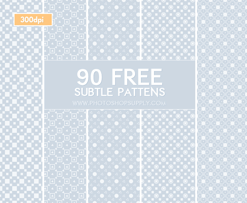 90 Subtle Patterns for Photoshop
