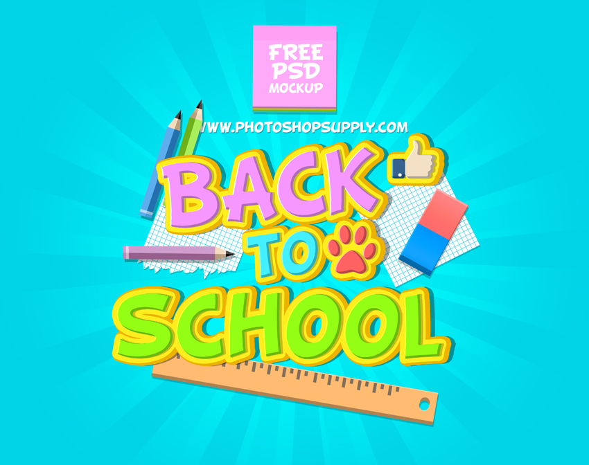 back to school PSD template free