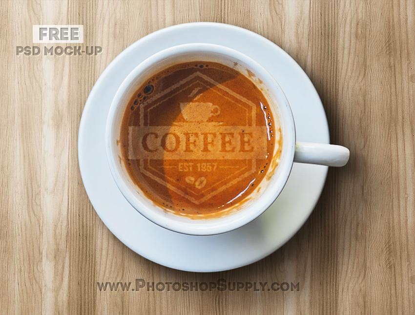 Coffee Latte Photoshop Mockup Free