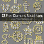 Gold Diamond Social Icons Free