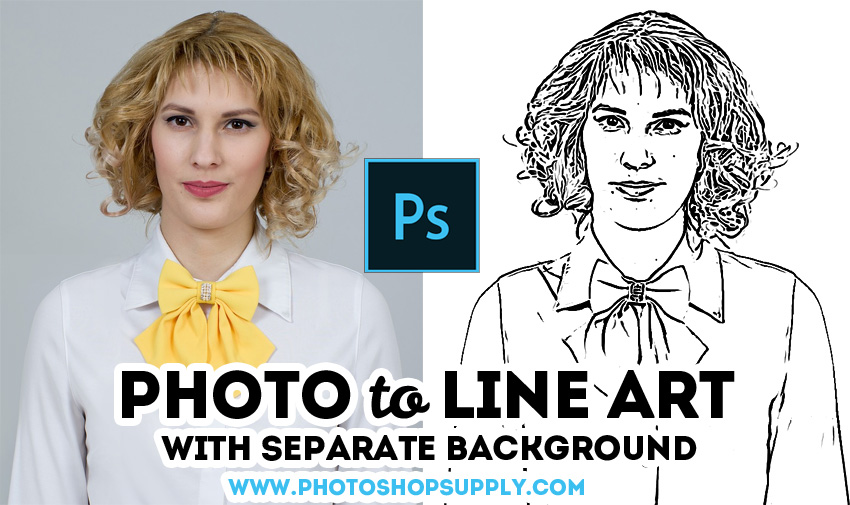Free Line Art Photoshop Tutorial Action