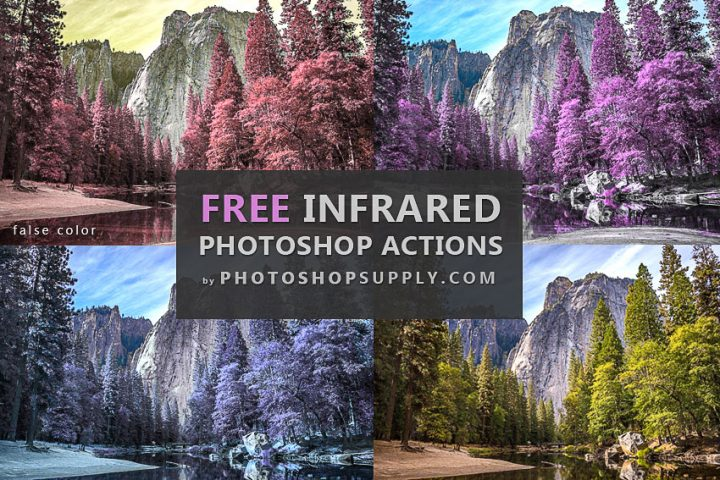 False Color Infrared Photoshop Action
