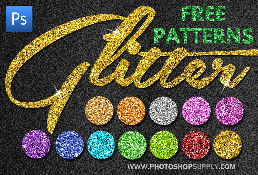Glitter Patterns for Photoshop Free