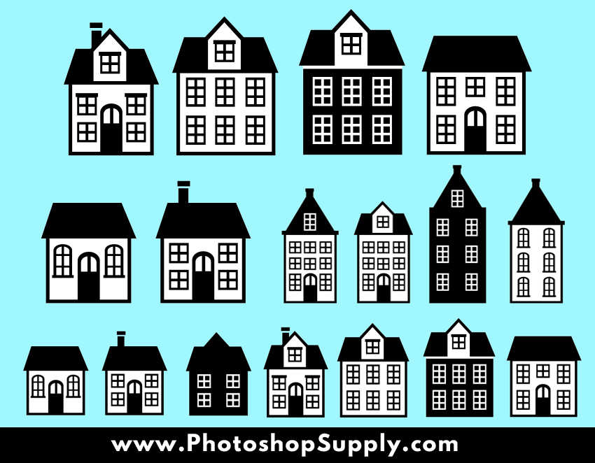 House Home Vector Shapes Photoshop