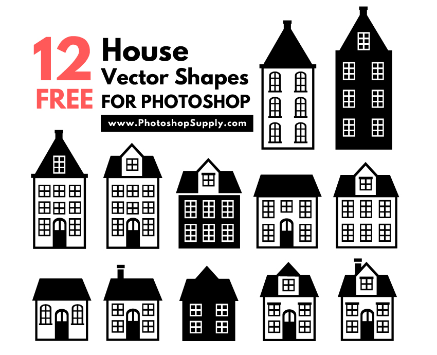 House Vector Shapes Free