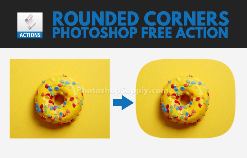 Rounded Corners Photoshop Free Action