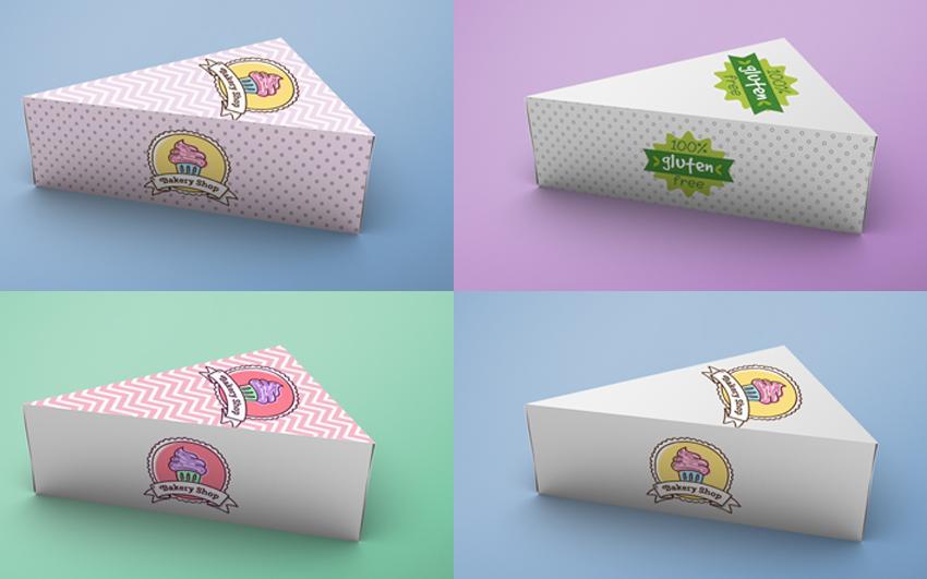 Cake Box Mockup PSD File