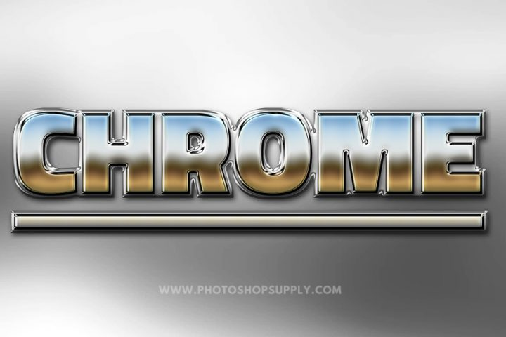Chrome Style Photoshop