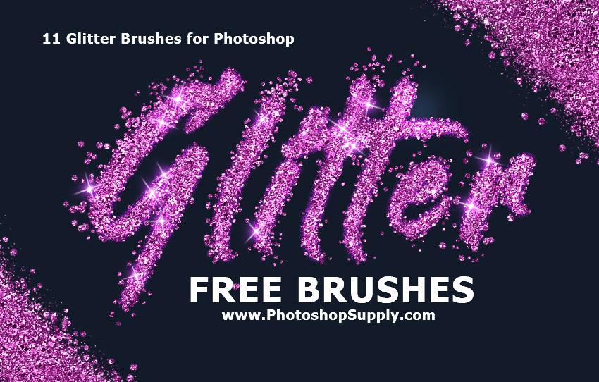 FREE) Glitter Brushes Photoshop | Photoshop Supply