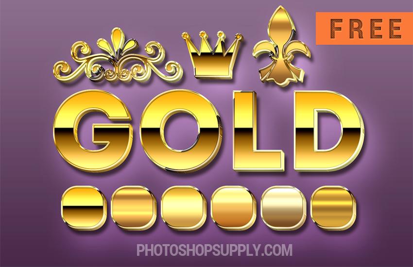 Photoshop Gold Styles