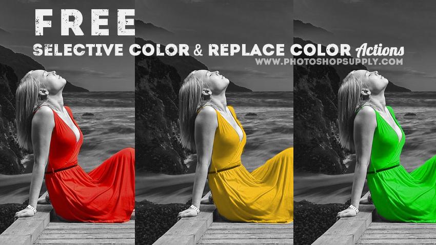 Replace Color Photoshop Action
