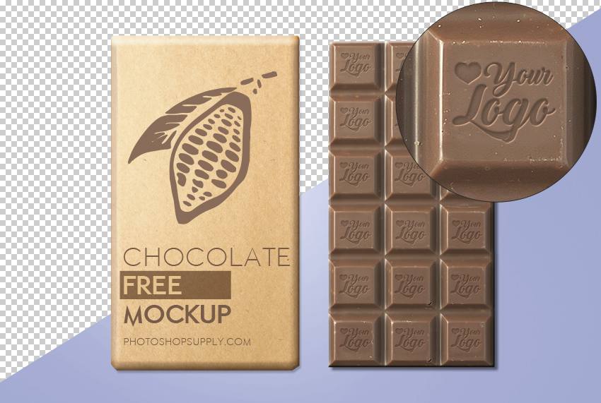 Chocolate Mockup Free
