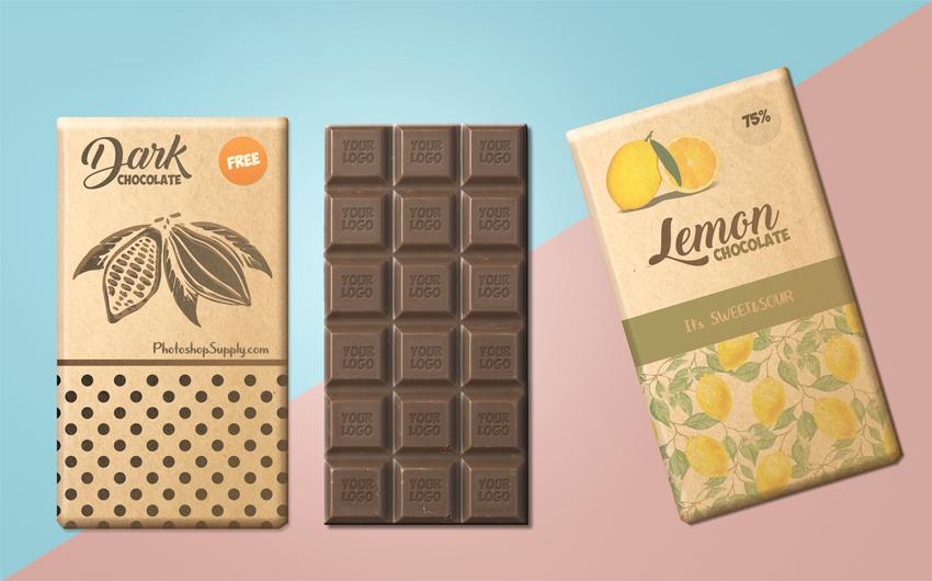 Chocolate Package Mockup