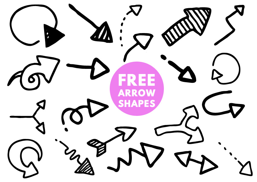 FREE) Arrow Shapes for Photoshop - Photoshop Supply