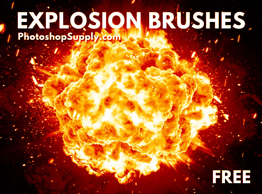 FREE) Explosion Photoshop Brushes - Photoshop Supply